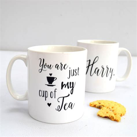 My Cup Of Tea personalised you are just my cup of tea mug by the alphabet gift shop notonthehighstreet