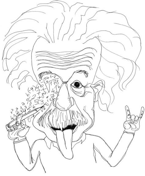 einstein coloring pages coloring home