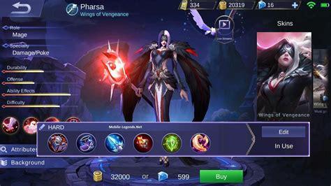 mobile legend damage mobile legends pharsa magic damage build mobile