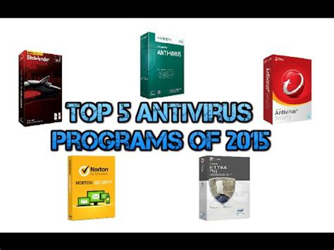 the best antivirus 2015 top 5 best antivirus software of 2015