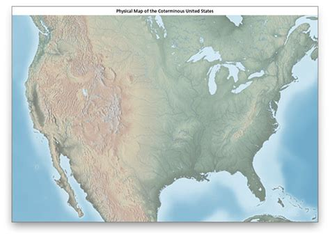 map of us without labels us physical map