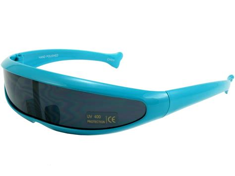 android glasses trekkie robot devo 80s robotica android sunglasses blue frame