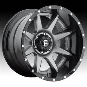 Truck Wheels Custom Fuel D238 Rage 2 Pc Anthracite Gloss Black Custom