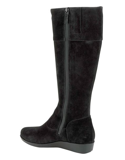 Boots Tali Black lyst cole haan tali suede boots in black