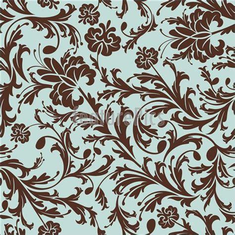 pattern blue brown brown on blue floral pattern