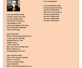 robbie williams supreme lyrics song worksheet feel by robbie williams