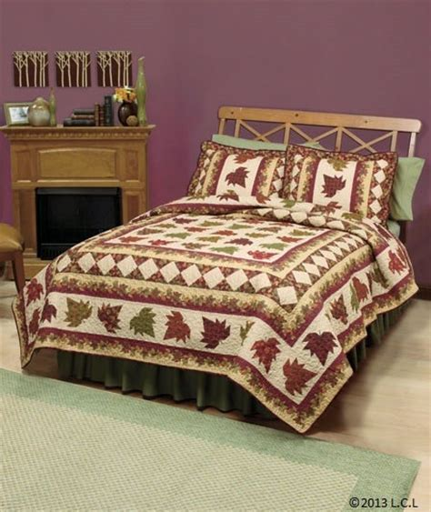 fall bedding fall quilt collection autumn leaves heirloom quality