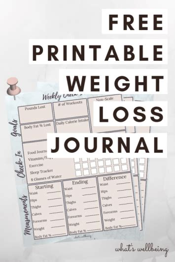 free printable weight loss journal plan with me post as i begin my