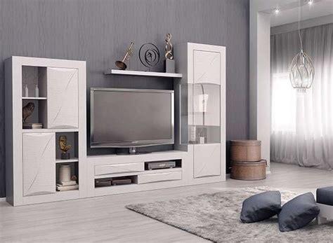 muebles de salon modernos  modulares color blanco