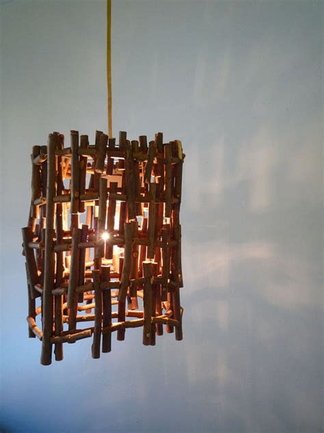 Handcrafted Lighting - a home in the twig pendant
