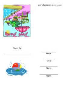 8 best images of rainbow pool invitation printable free birthday invitation