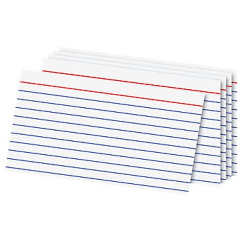 ruled index card template office depot brand index cards 3 x 5 ruled white 100 by