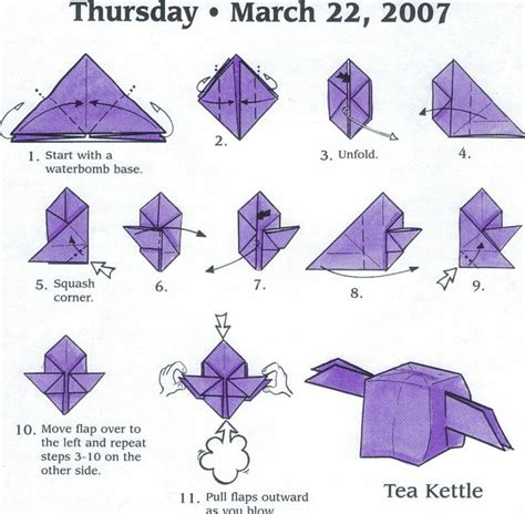 How To Make A Paper Teapot - 97 best origami images on diy origami origami