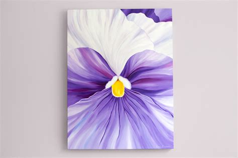 acrylic paint for large canvas large canvas wall purple abstract painting flower acrylic