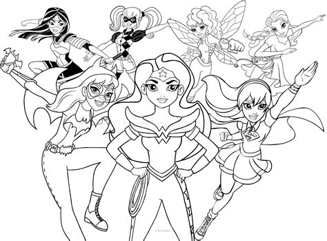 dc superhero girls coloring pages pictures to pin on
