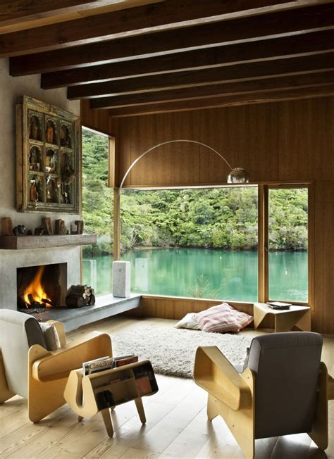new zealand home decor waterfall bay house by bossley architects