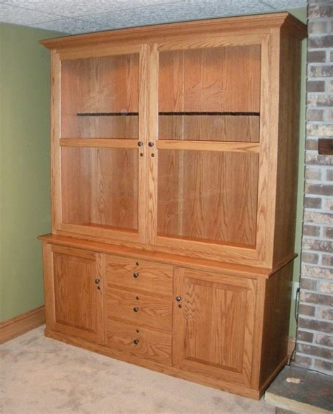 Handmade Gun Cabinet - custom oak gun cabinet country furniture