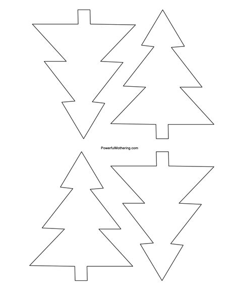 christmas tree glyph printable gingerbread men christmas tree and star printables