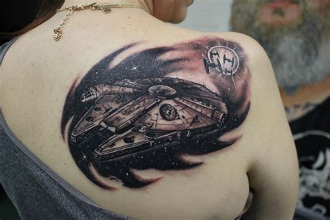 millennium tattoo millennium falcon by tattoonow