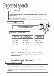 reported speech worksheet ii