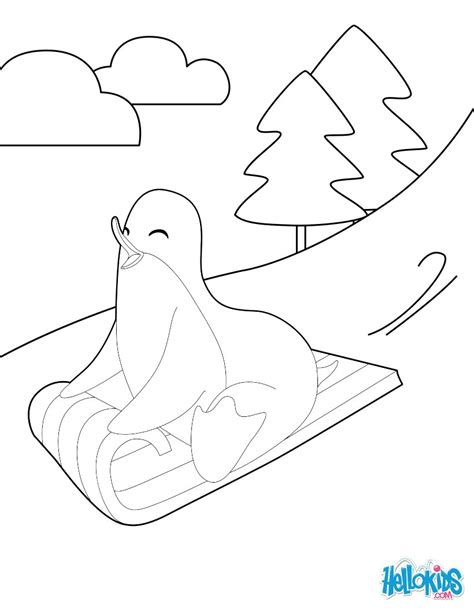 sledding coloring page dog sledding down hill coloring pages sledding down a hill coloring pages
