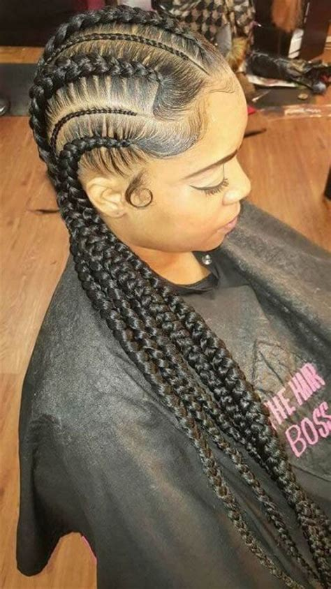 black braided hairstyles  african women