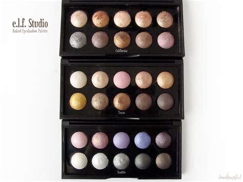 Bake Eyeshadow e l f studio baked eyeshadow palette review makeupfu