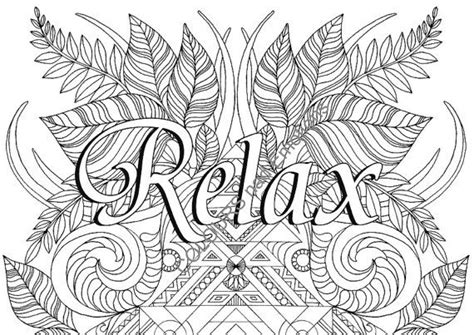 printable coloring pages for relaxation relax coloring page adult coloring page affirmations