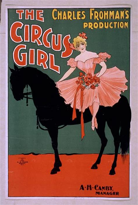printable vintage poster the circus girl charles frohman s production vintage
