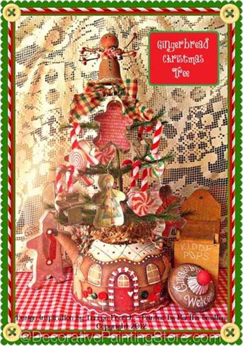 gingerbread christmas tree pattern the decorative painting store gingerbread teapot