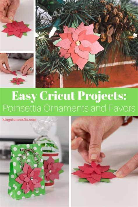 easy cricut projects poinsettia ornament kingston crafts