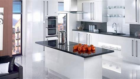 white shiny kitchen cabinets