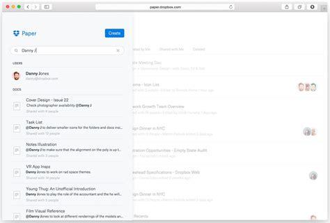 dropbox paper dropbox paper macht google docs konkurrenz news