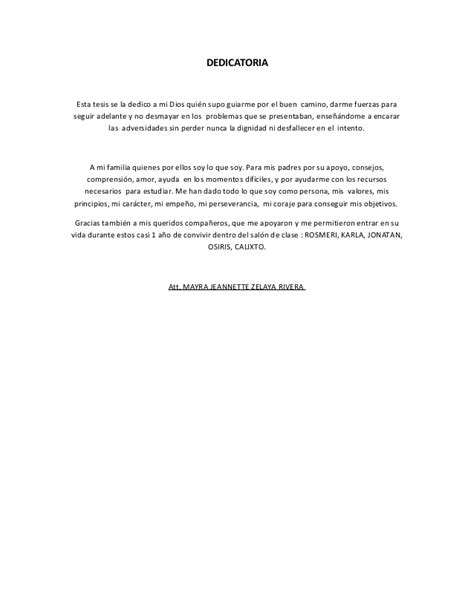 Ejemplos De Dedicatorias De Tesis | dedicatoria de la tesis ejemplo xd images frompo