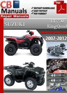 Suzuki King 750 Service Manual Suzuki Lt 750 King 2007 2012 Service Manual Ebooks
