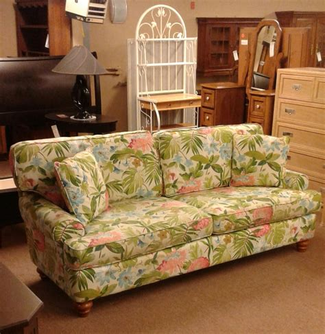 tropical couch braxton culler tropical sofa delmarva furniture consignment