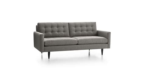 crate and barrel mid century sofa petrie mid century sofa crate and barrel