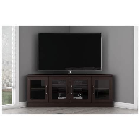contemporary corner tv cabinets furnitech ft60cccw ft60cccw 60 quot tv stand contemporary