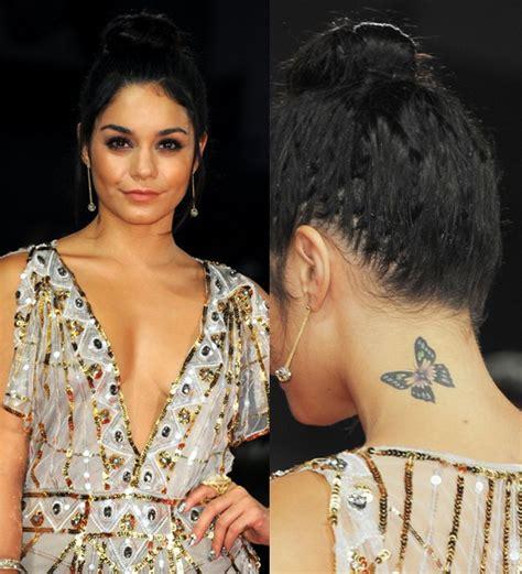 butterfly tattoo vanessa hudgens vanessa hudgens tattoos butterfly tattoo on neck