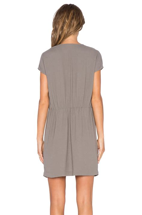 Magdalena Dress lyst american vintage magdalena dress in gray