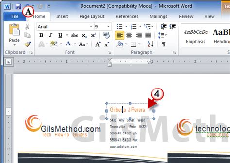 microsoft word 2010 business card template how to print business cards in word 2010