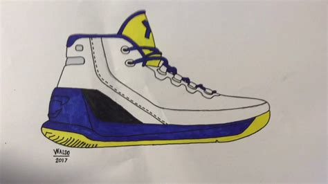 Curry 4 Sketches by Armour Curry 3 Drawing Timelapse