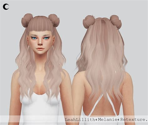 sims 4 cc hair sims 4 hairs kalewa a leahlillith s melanie hair retextured