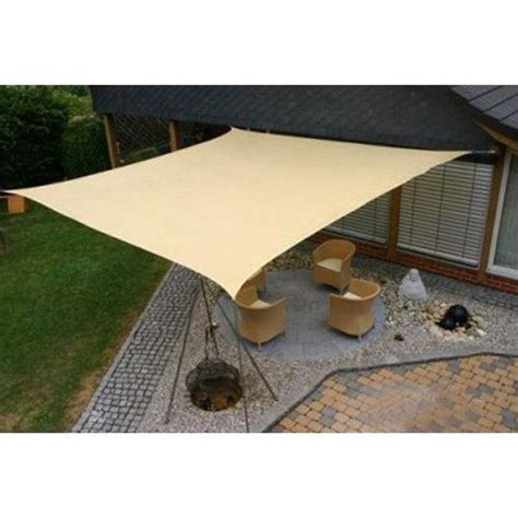 backyard sail canopy sun sail shade square canopy cover outdoor patio awning 10 sides 10x10