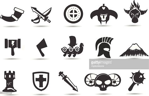 Norse Viking Icons Vector Getty Images Gambar Wiki