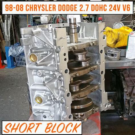 2 7 Chrysler Engine For Sale by Remanufactured 98 08 Chrysler Dodge 2 7 Block