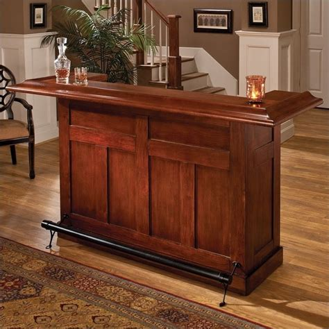 hillsdale classic wooden home bar in warm cherry 62578ache
