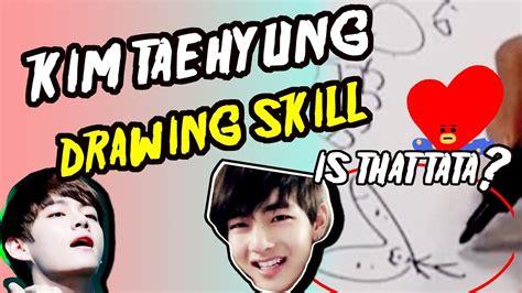 kim taehyung tata bts v kim taehyung awesome drawing skill is that tata