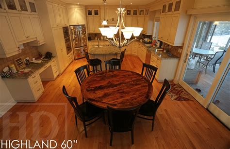 Best Finish For Wood Kitchen Table by Reclaimed Wood Table Epoxy Polyurethane Finish Highland