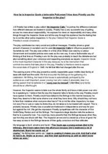 Aqa Epq Essay Exles by Aqa Gcse Literature An Inspector Calls Essay